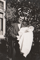 Mary Garfoot with her baby Doris