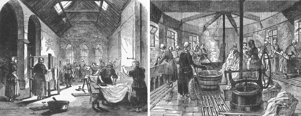 Women working in the Ironing Room and Laundry in a Victorian Prison
