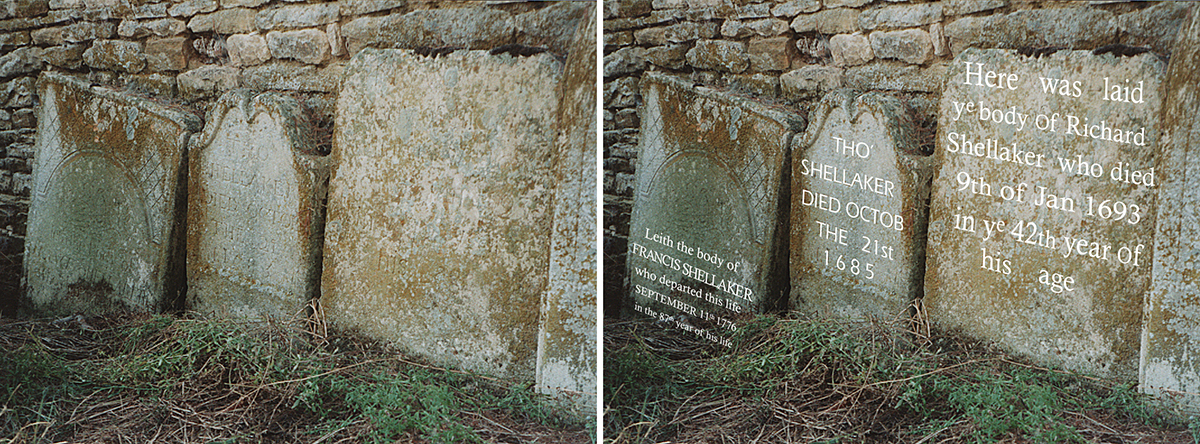 Lyndon Gravestones - Francis 1776 - Thomas 1685 - Richard 1693 x 2
